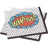 Ginger Ray WHAM super-héros parti serviettes de papier - Comics super-héros