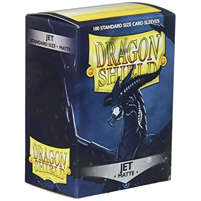 AT Sleeves: Dragon Shield Matte Jet (100) eves, Matte Jet: Toys & Games