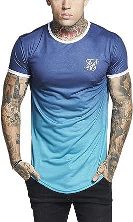 diseño popular nueva lanzamiento clásico Camiseta Siksilk - S/s Contrast Poly Fade Gym Azul/Turquesa ...