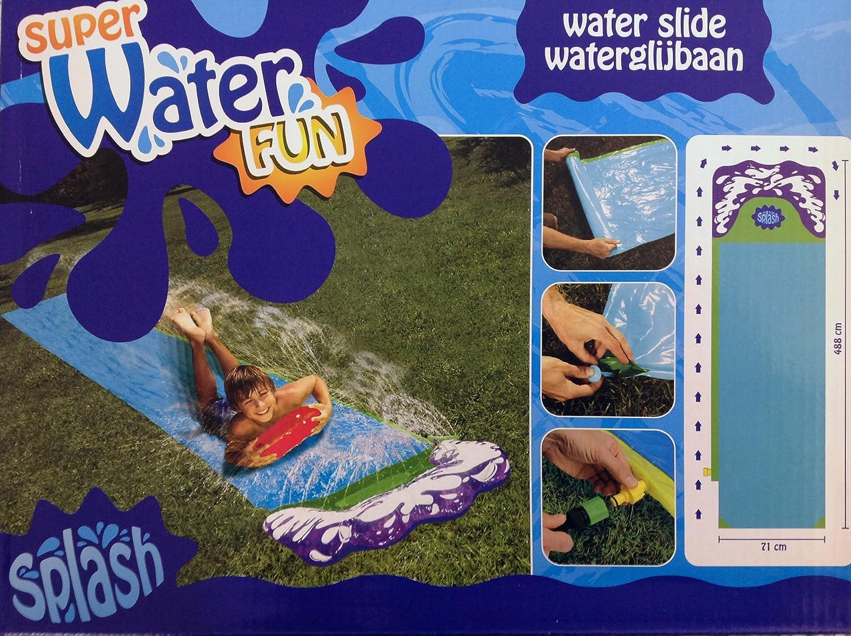 Splash Wasserrutsche - 488cm - mit Spritzfunktion - gepolstetertes Ende