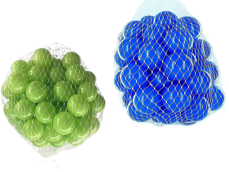 1000 Bälle für Bällebad gemischt mix mit hellgrün und blau