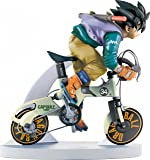 Dragon Ball Kai (Dragonball) Desktop Real McCoy Figure / Statue: Son Gokou / Goku 02 (on Bike) 14 cm