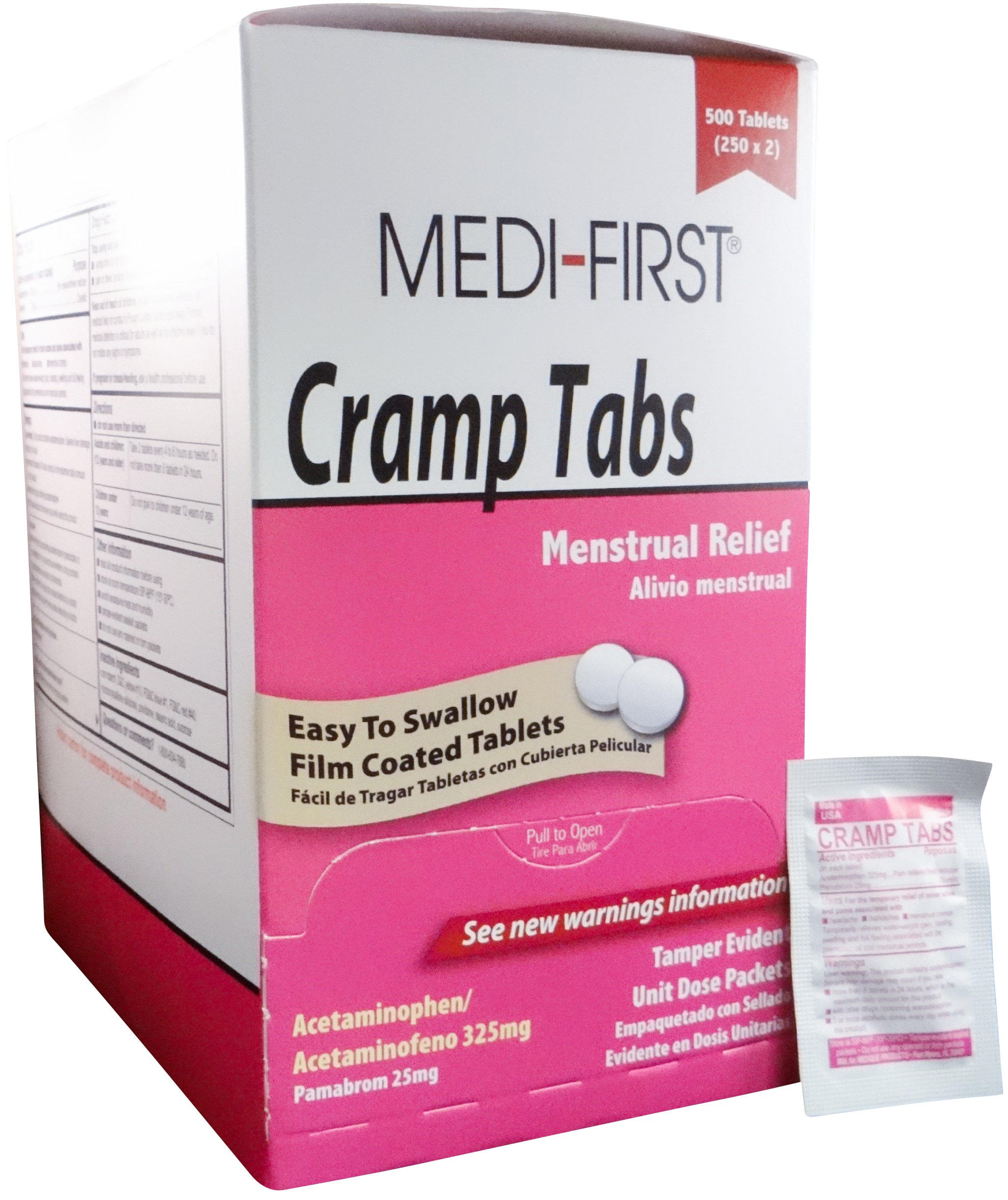 Medi-First Menstrual Relief Pain Relief Acetaminophen Cramp Tablets - MS75585 (3,000) by Medique