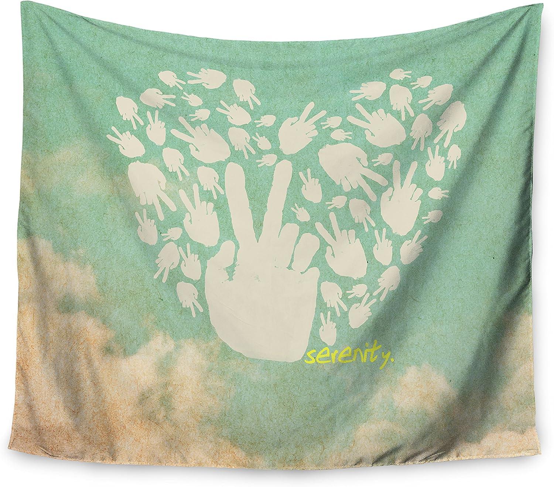68 X 80 Kess InHouse Kess Original Christmas Gram Chevron Wall Tapestry