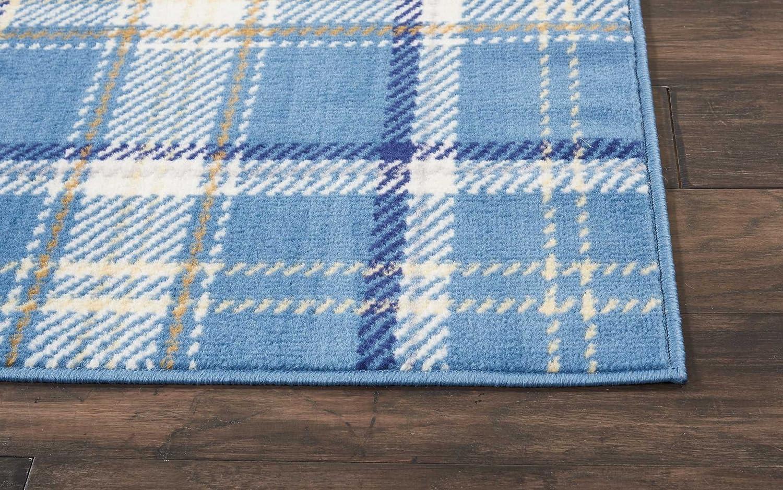 23 X 76 Nourison Grafix Area Rug Blue