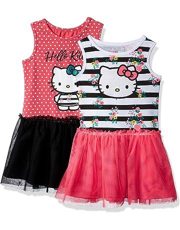 ee41bbf02b1783 Hello Kitty Girls 2 Pack Embellished Dresses
