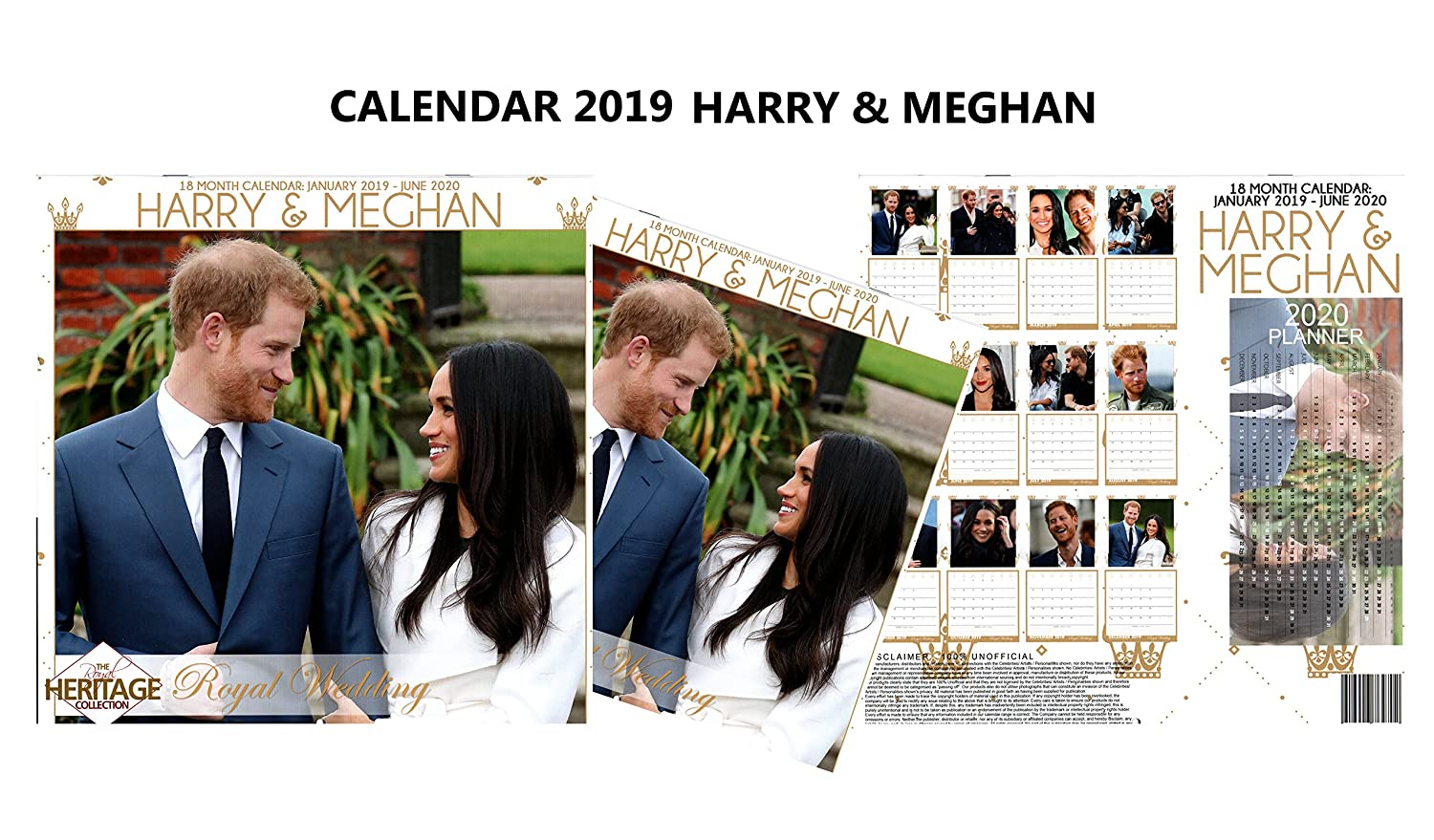 The Royals Harry And Meghan December 2019 Calendar Amazon.: Harry & Meghan The Royal Wedding 18 Month Calendar