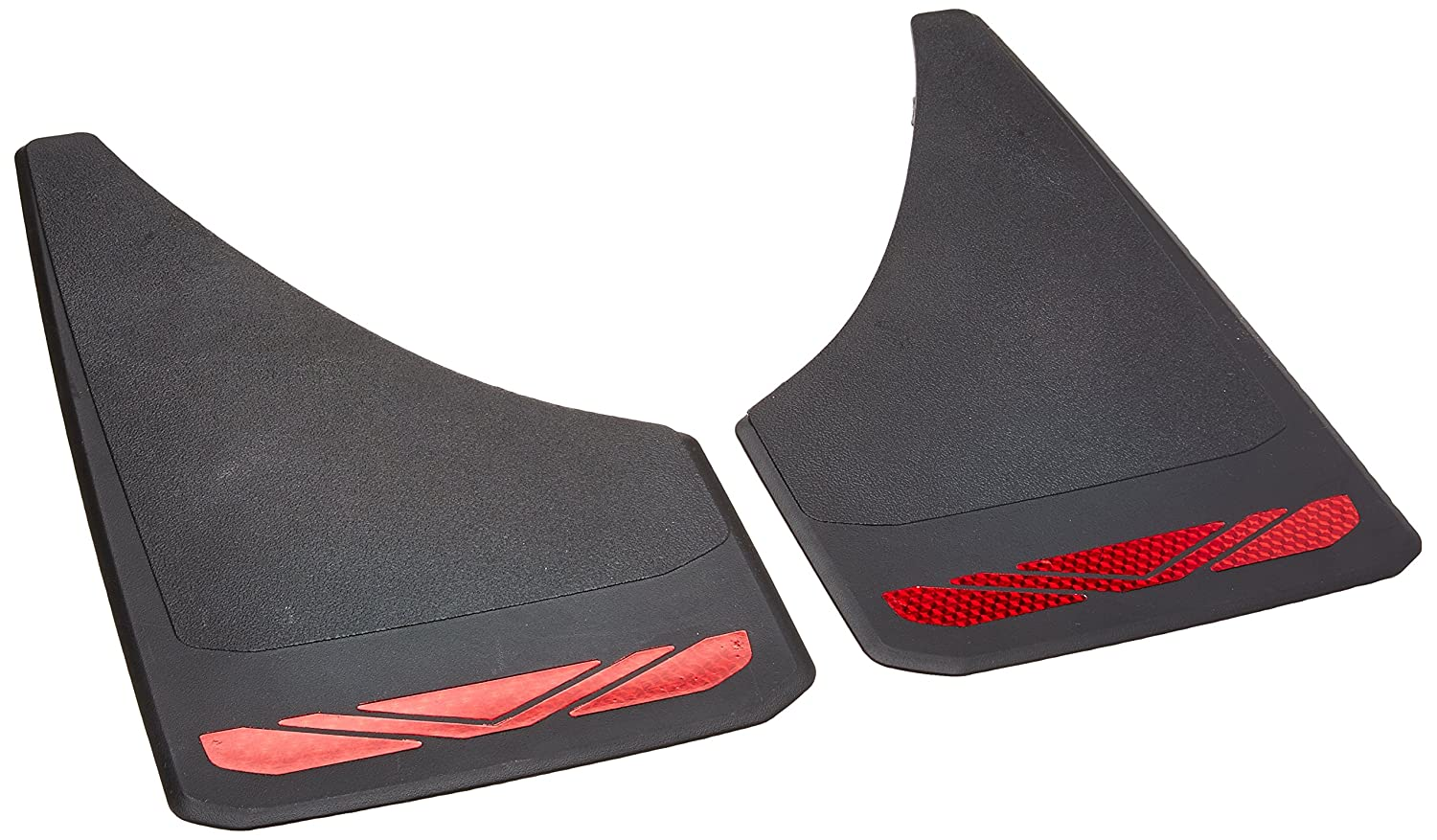RoadSport 4649 A Series Universal Fit Premiere Splash Guard Powerflow Black with Red Prism; 12-3//4 Height x 7-3//8 Wide