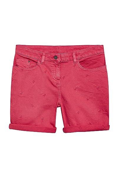 next Mujer Pantalones Cortos con Bordado De Flamencos Rosa EU 40 (UK ... 44acc56c418
