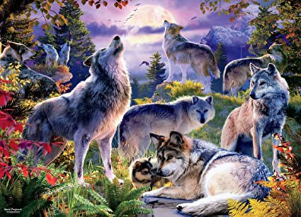 Puzzles for Adults 1000 Piece Wolf Pack Beautiful Animal for Adults and Kids Best for Family Game Play Collection