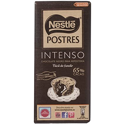 Nestlé Postres Tableta De Chocolate Intenso - 200 g