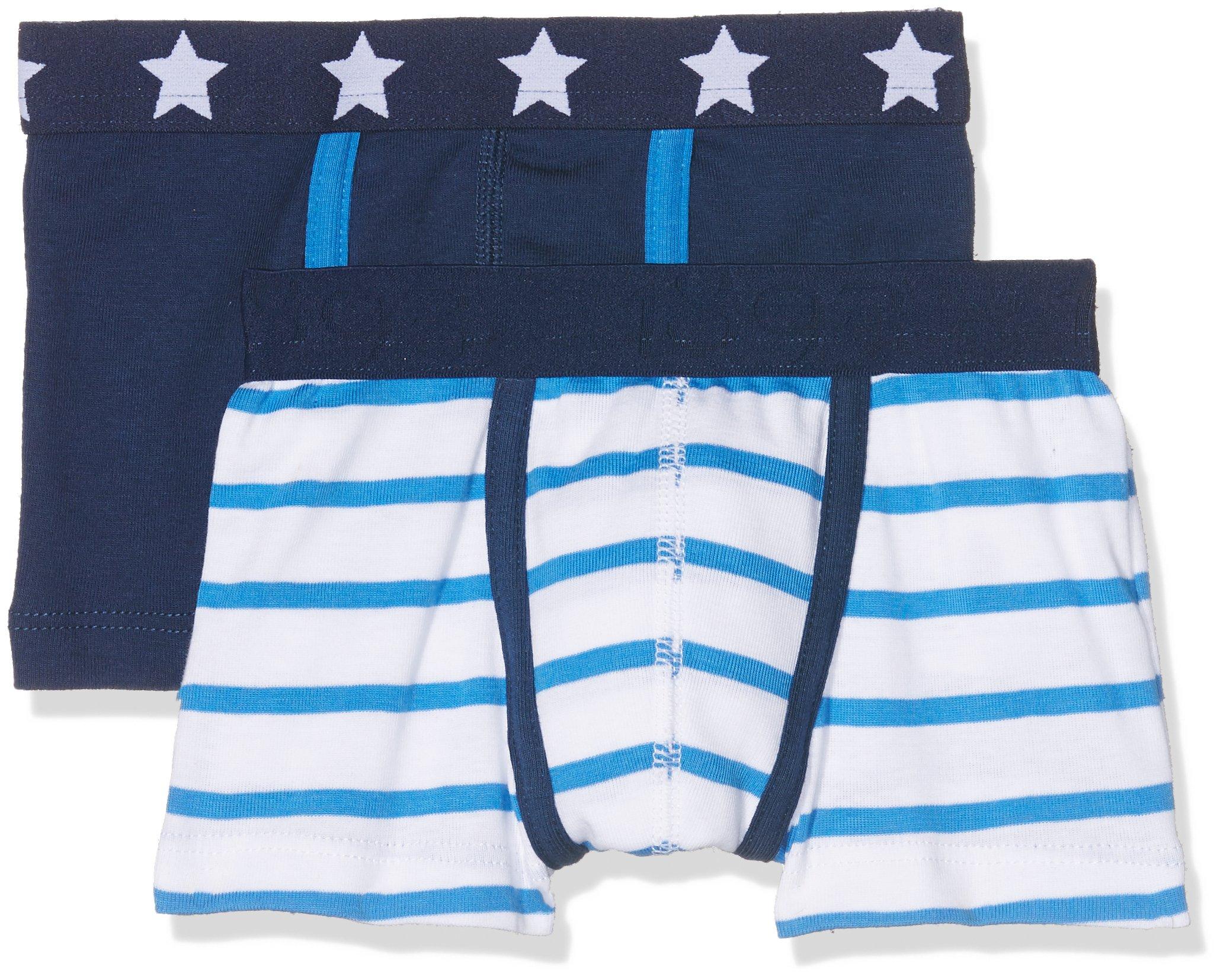 Petit Bateau Boys Boxers 2 Pack Navy Style 23965 Sizes 2-12 (Size 4 Style 23965 Boys)