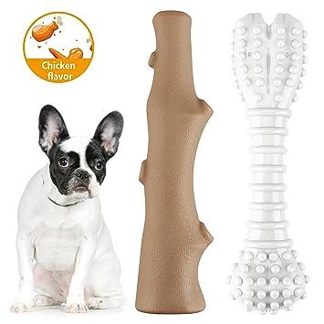 MOSTY Juguetes de masticar para perros pequeños y grandes con textura de hueso indestructible, juguetes de masticación con textura para mascotas: Amazon.es: ...
