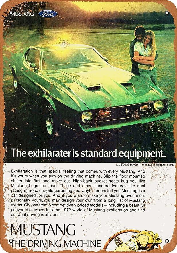 1972 FORD MUSTANG MACH 1 WALL CLOCK-FREE USA SHIP!