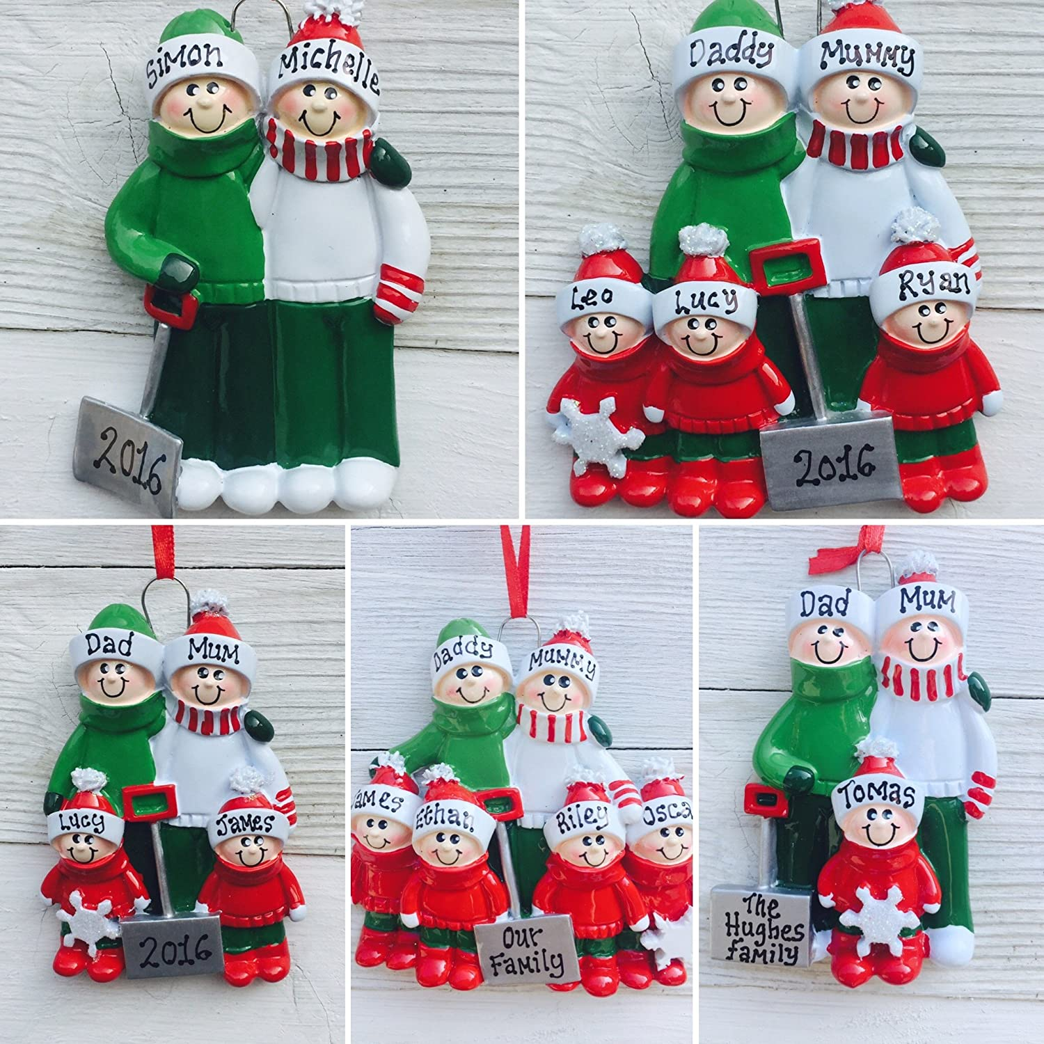 Childrens Personalised Christmas Tree Decorations