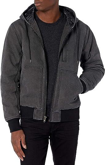 RVCA mens Hooded Bomber Jacket