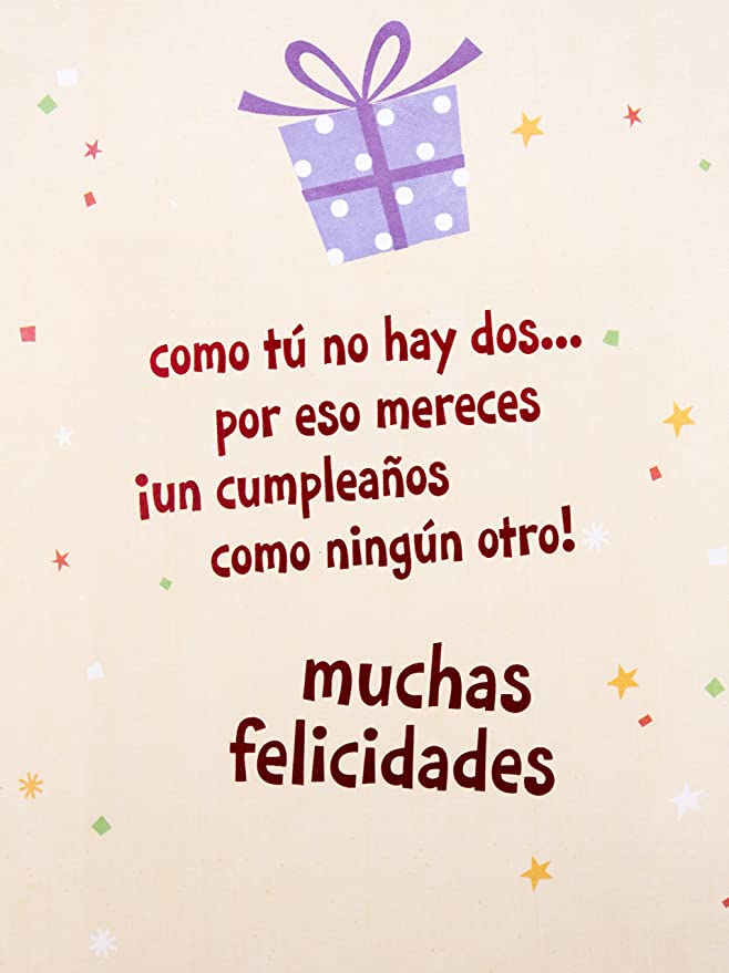 Hallmark Vida Spanish Birthday Greeting Card (Cake & Icons) 0399RZM7022