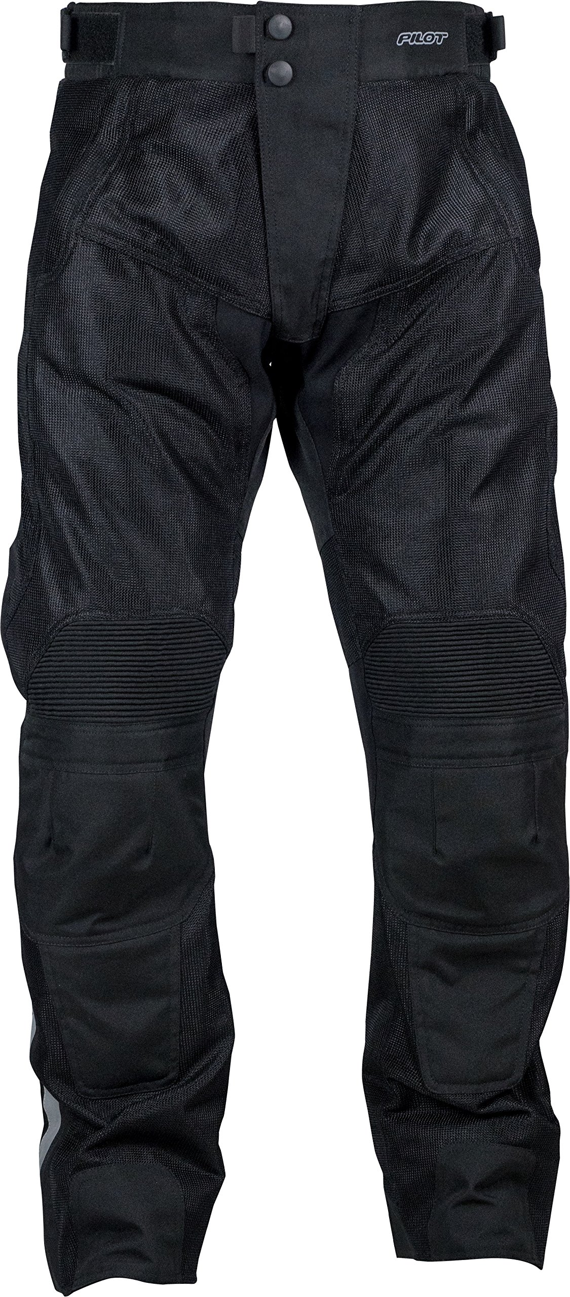 Pilot Motosport Men's Omni Air Mesh Motorcycle Over Pants (34-36, V2) (Black, Large)