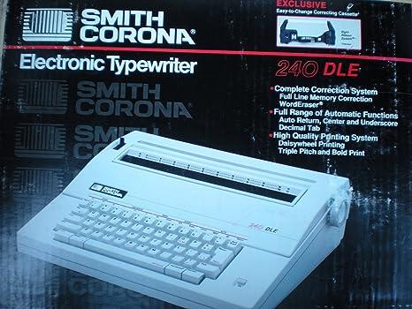 Smith Corona – 240 dle eléctrico máquina de escribir portátil Script impresión