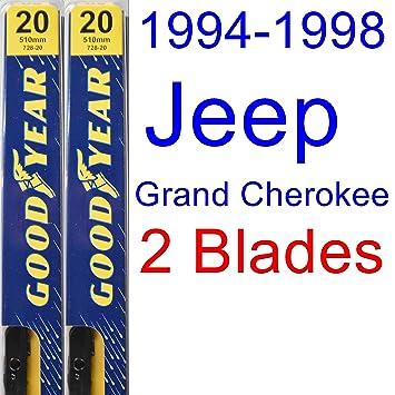 1994 - 1998 Jeep Grand Cherokee (modelos de repuesto para limpiaparabrisas Set/Kit (Goodyear limpiaparabrisas blades-premium) (1995,1996,1997): Amazon.es: ...