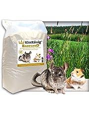 Kieskönig Premium Badesand für Chinchillasand, Hamster, Rennmäuse und Degus - samtweiche abgerundete Körnung