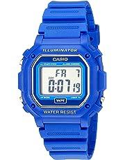 Casio F-108WH-2ACF - Reloj digital resistente al agua con correa de resina azul, unisex