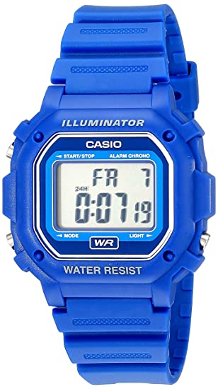 3aad56583 Amazon.com: Casio F108WH Water Resistant Digital Blue Resin Strap Watch:  Classic: Watches