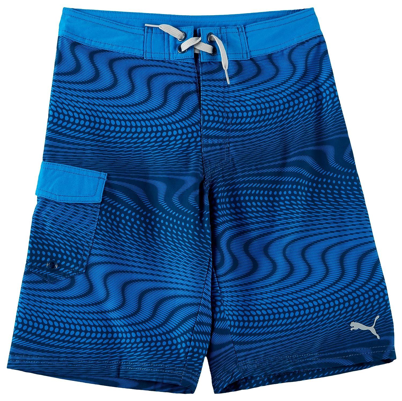 Puma Big Boys Optical Illusion Boardshorts Medium (10-12) Blue/Black 0046304884