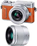 パナソニック ミラーレス一眼カメラ ルミックス GF90 ダブルレンズキット 標準ズームレンズ/単焦点レンズ付属 オレンジ DC-GF90W-D