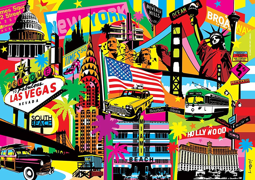 Buffalo Games Vivid America by Lobo from The Vivid Collection Jigsaw Puzzle (300 Piece), Large by Buffalo Games