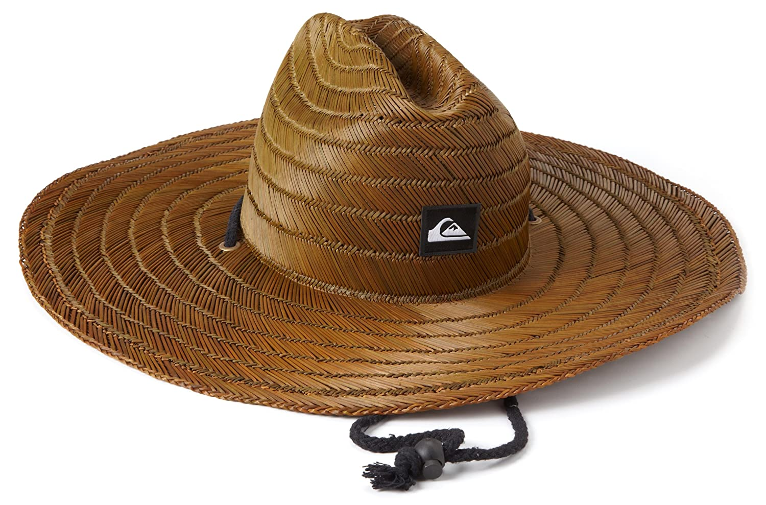 da2672310b024d Amazon.com: Quiksilver Men's Pierside Straw Hat, Dark Brown, One Size:  Clothing
