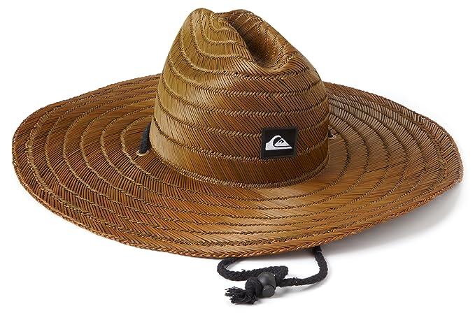 e14d11eec Amazon.com: Quiksilver Men's Pierside Straw Hat, Dark Brown, One ...