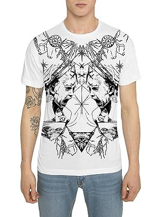 b707088baedf0 T Shirt Mode Homme Blanc Coton, Tee Shirts Designer Fashion Rock avec  Imprimé Motif Tattoo - RED ...