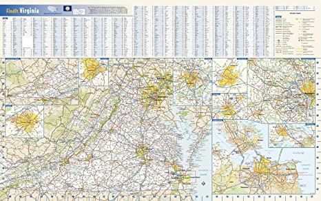 Amazon Com Virginia State Wall Map 30 75 X 19 25 Paper