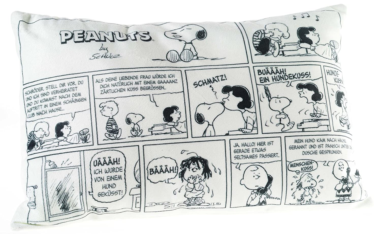 Snoopy Comics | Coussin 40 x 24 cm | Le Peanuts | Enfants Oreiller Décoratif Heunec 587878