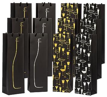 Haute Soiree Bolsas de Regalo Vino Premium - 12 Pack