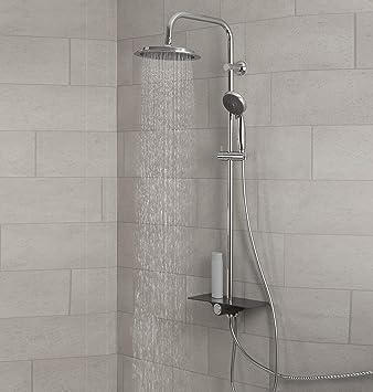 Juego de ducha Aquastar con repisa, sistema de ducha con alcachofa ...
