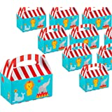 Treat Boxes - 24-Pack Paper Party Favor Boxes, Circus Carnival Design Goodie Boxes for Birthdays and Events, 2 Dozen Party Gable Boxes, 6 x 3.3 x 3.6 Inches