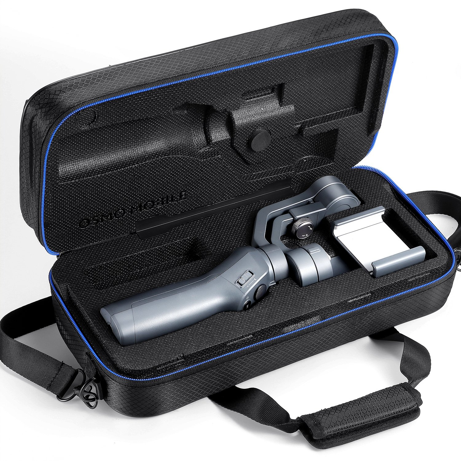 DJI Osmo Mobile 2 Carrying Case by DACCKIT - fit for DJI osmo mobile 2 Handheld Smartphone Gimbal with tripod combo, Extension Stick, Base