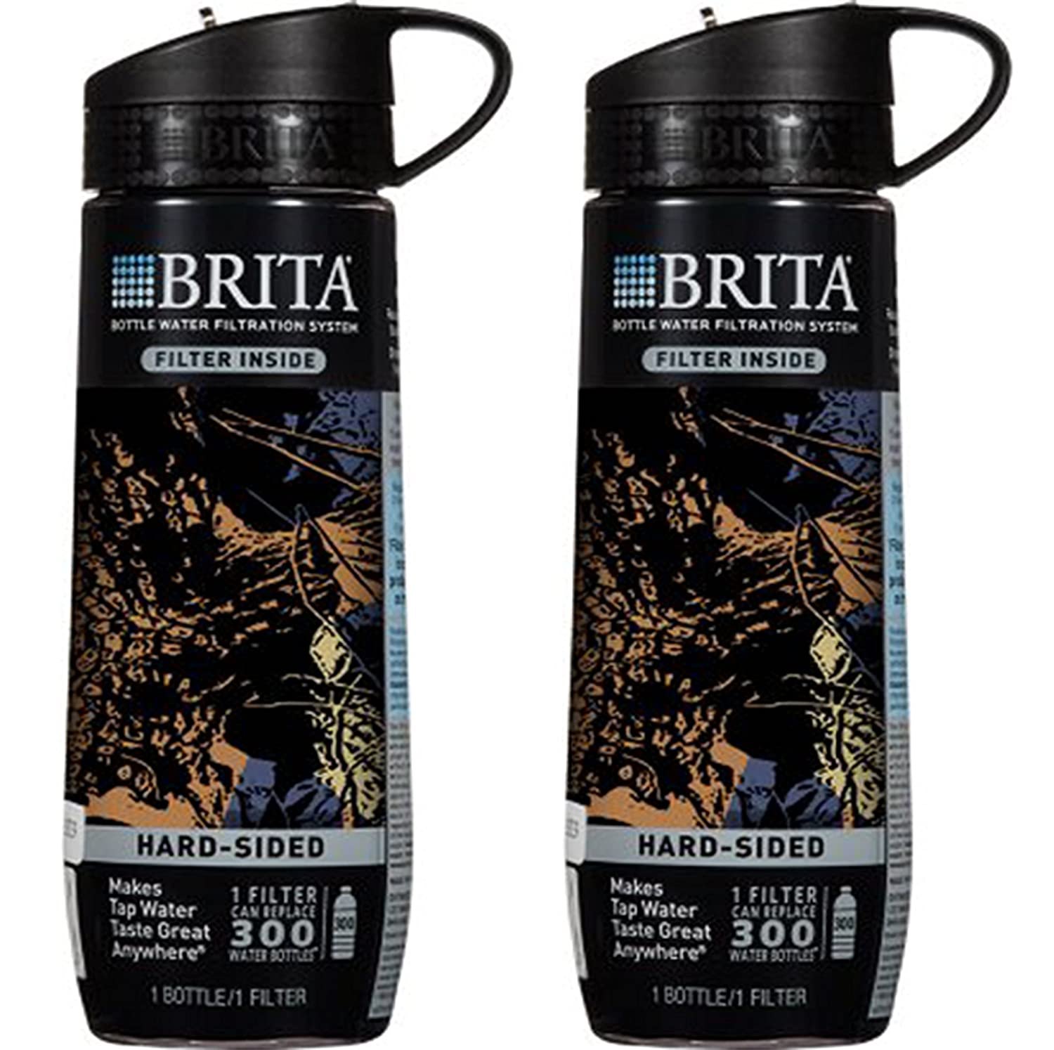 Amazon.com: Brita Black Camo Hard Sided Water Bottle With Filter ...