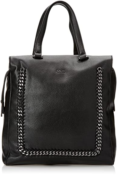 Gaudi Tote Linea Agata, sac à main femmeNoirNoir (Black), 32x34x14 cm (W x H x L) EU