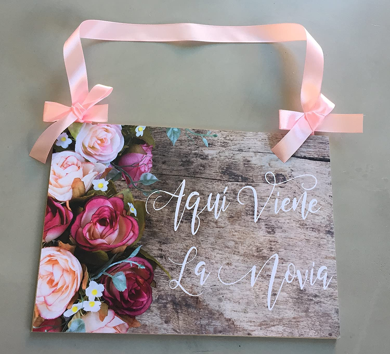 Cartel para Boda Aqui viene la novia: Amazon.es: Handmade