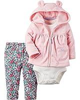 Carter's Baby Girls 3-Piece Pink Cardigan Set