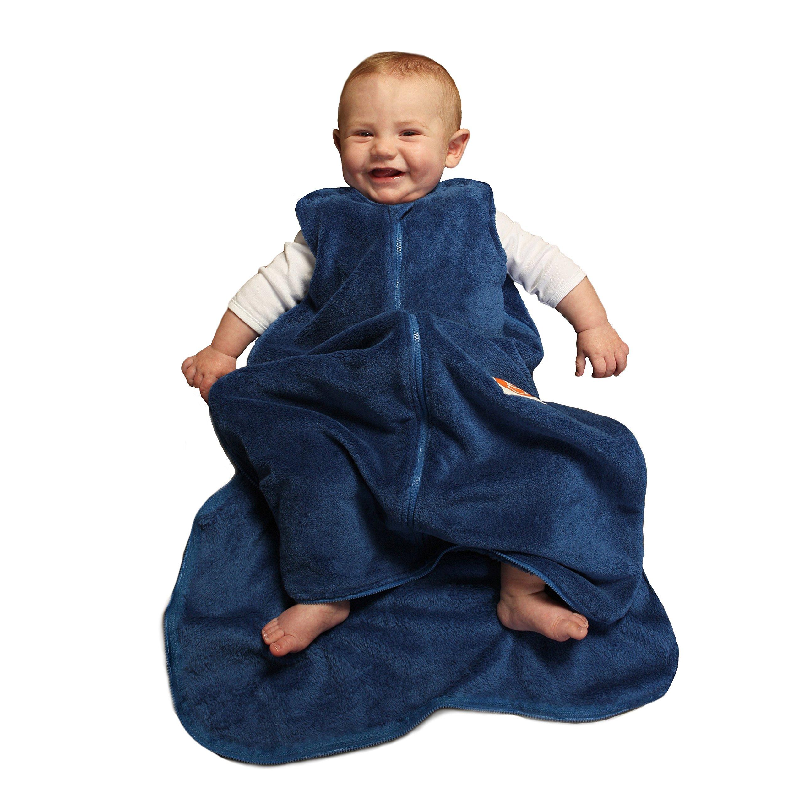 Gunapod Sleep Bag Baby Sack Unisex Fleece Wearable Blanket, Blueberry, 24-36M