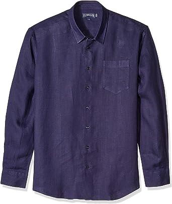 VILEBREQUIN - Camisa de Lino Liso para Hombre