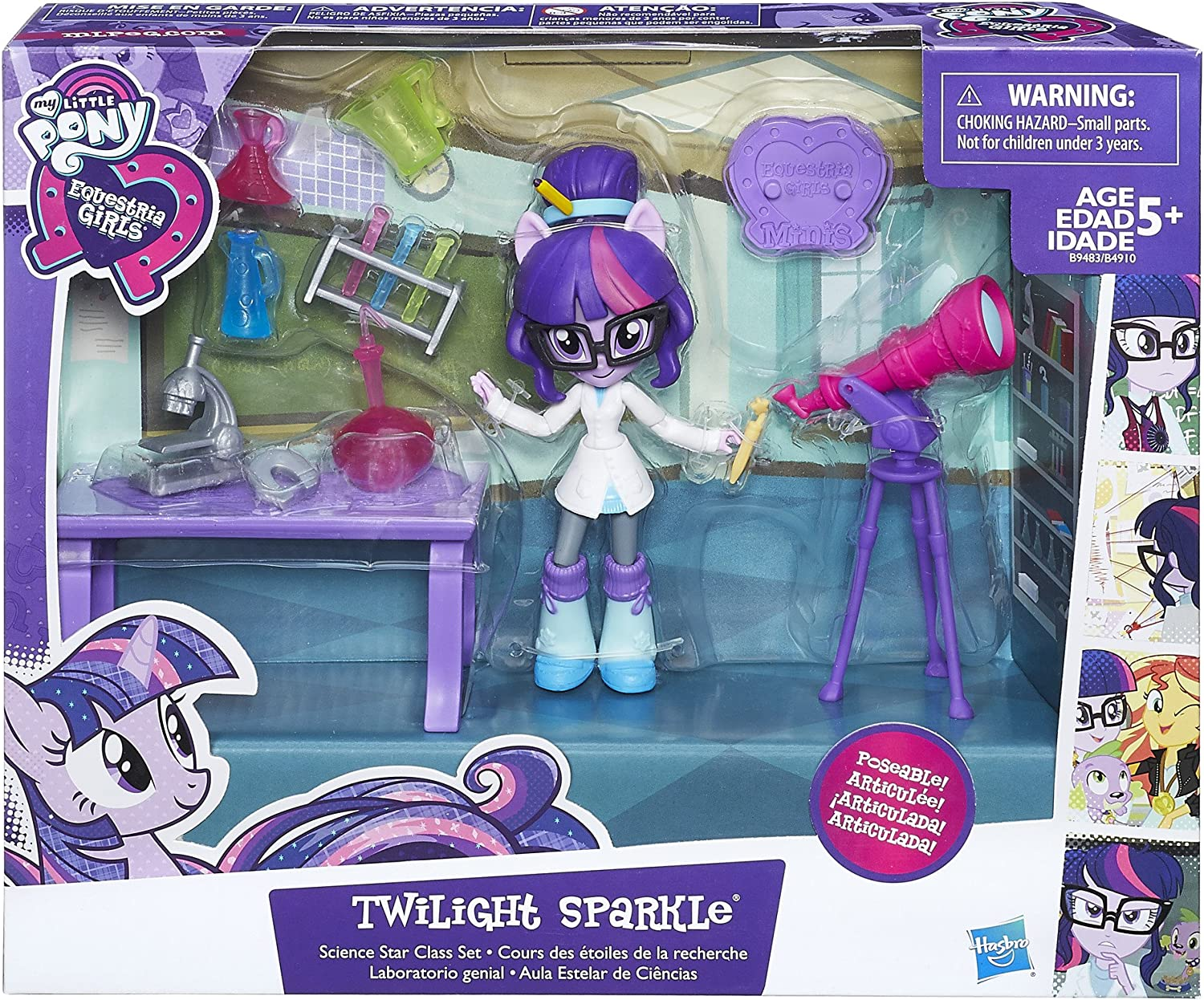 My Little Pony EQUESTRIA Girls Minis Twilight Sparkle Science Star Class Set 5/""