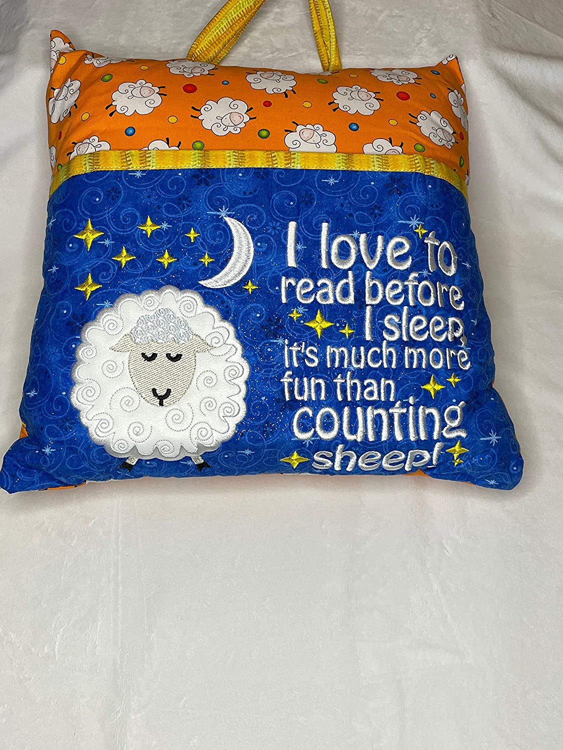Counting Sheep Book Pillow-Reading Pillow