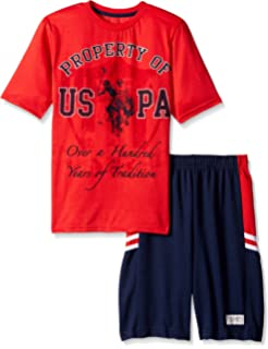 U.S. Polo Assn. Boys 2 Piece T-Shirt and Mesh Athletic Short Set