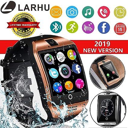 Bluetooth Smart Watch - L LARHU Touch Screen Smartwatch Smart Wrist Watch Phone Fitness Tracker SIM TF Card Slot Camera Pedometer iOS iPhone Android ...