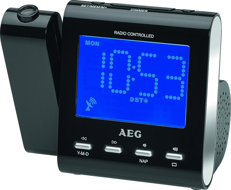 AEG MRC 4122 F N Reloj Blanco - Radio (Reloj, AM,MW,PLL, 87,5-108 ...
